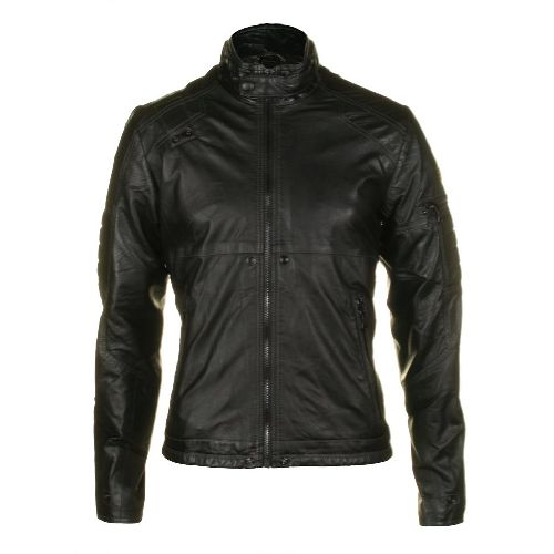 G-Star Raw Mens MFD Black Leather Jacket