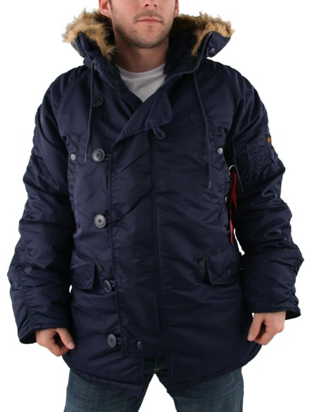 Mens Alpha Industries Blue N3B Parka Jacket