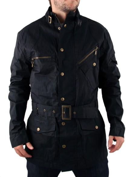 Mens Black Fenchurch Richmond Military Jacket