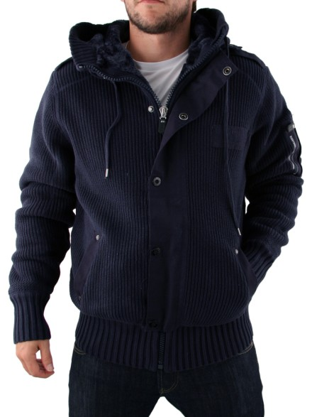 Mens Firetrap Chunky Knit Jacket