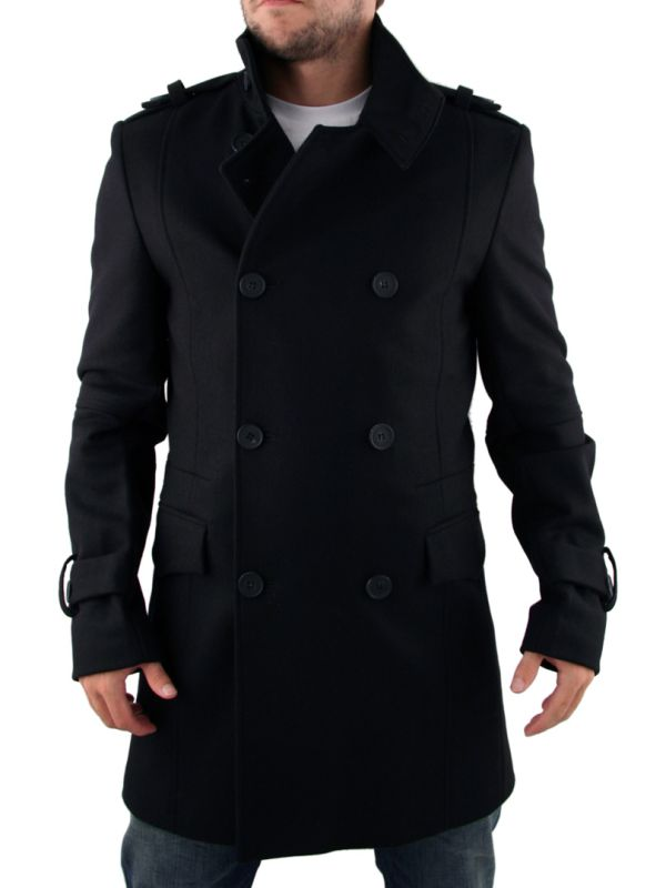 a579691068 Mens Black Full Circle Double Breasted Jacket - Order now just £159 ...