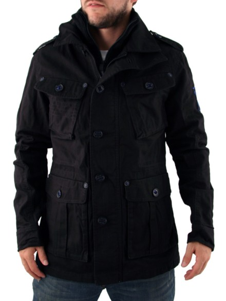 Mens Black Gio Goi Jonestown Jacket