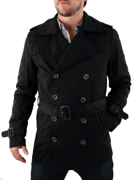 Mens Black Scotch & Soda Double Breasted Jacket