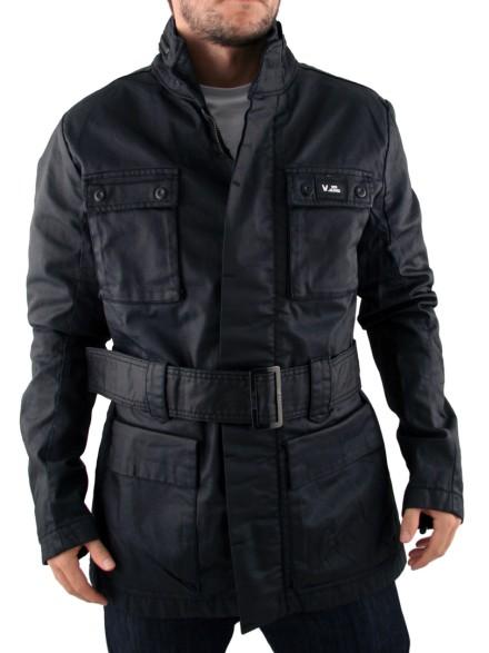 Mens Black Voi Jeans Trooper Jacket