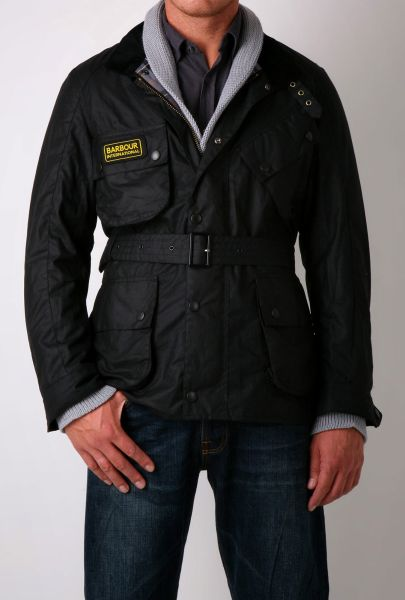 Mens Black Barbour International Trials Jacket